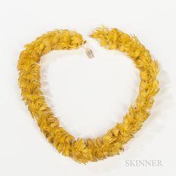 Hawaiian Feather Necklace, Lei hulu