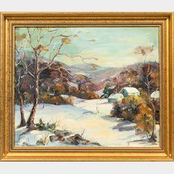 Marian Randall Parsons (American, 1878-1953)      Berksire   [sic  ] Winter