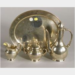 Four-piece Tiffany & Co. Sterling Demitasse Set