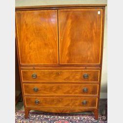 Beacon Hill Collection Regency-style Mahogany Inlaid Wardrobe.
