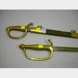 Two Continental Officer's Swords