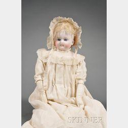 Belton-type Turned Shoulder Head Bisque Doll