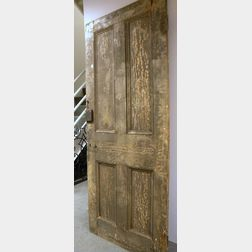 Painted Architectural Wooden Paneled Door