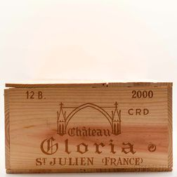 Chateau Gloria 2000, 12 bottles (owc)