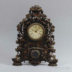 Bradley & Hubbard Cast Iron Shelf Clock