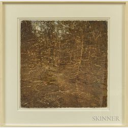 Dennis Pinette (American, 20th/21st Century)      Two Works: Woods, November