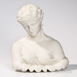 Parian Bust of the Water Nymph Clytie