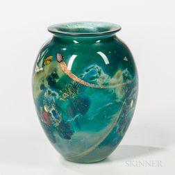 """Josh Simpson (b. 1949) """"Inhabited"""" Vase"""