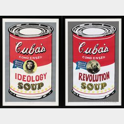Alfredo Manzo (Cuban, 20th/21st Century)      Two Works: The Cuba's Soup: Homage to Warhol