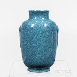 Robin's-egg Blue-glazed Vase