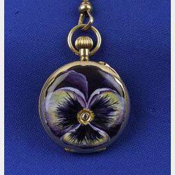 Lady's Art Nouveau 14kt Gold Chatelaine Watch