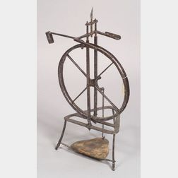 French Iron Spinning Wheel
