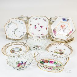 Group of English and French Porcelain Dishes