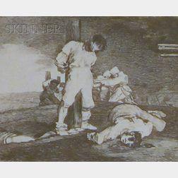 Francisco de Goya (Spanish, 1746-1828)      Y No Hai Remedio