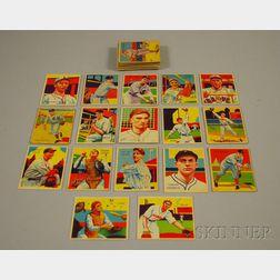 Thirty-seven 1934-35 Chicle Gum Diamond Stars Baseball Cards