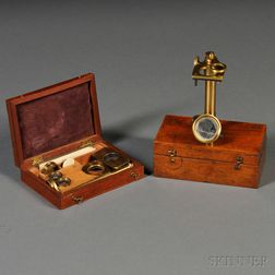 Two Partial Brass Field Microscopes