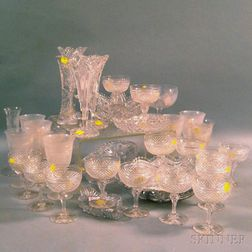 Thirty-five Cut Glass Items