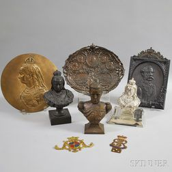 Eight Metal Royal Commemorative Items