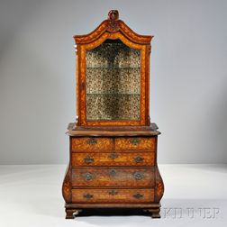 Victorian Dutch Walnut Marquetry Cabinet