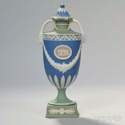 Wedgwood Four Color Jasper Dip Vase and Cover