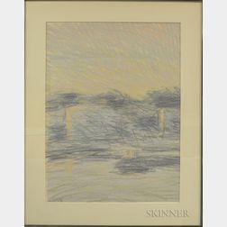 Paul Alphonse Plante (American, 1943-2016)      Pastel Landscape