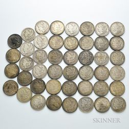 Forty-one Morgan Dollars and Four Peace Dollars