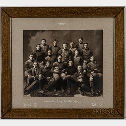 Harvard Crimson Varsity Football Team Photographs, 1898 and 1899.