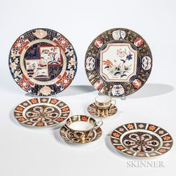 Group of Royal Crown Derby Tableware and Four Mason's Ironstone Plates