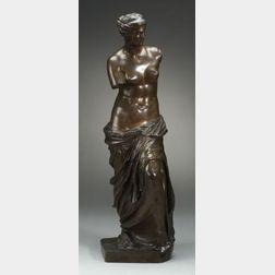 Large Bronze Figure of the Venus de Milo