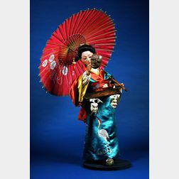 Fine Gustave Vichy Automaton of a Japanese Mask Seller
