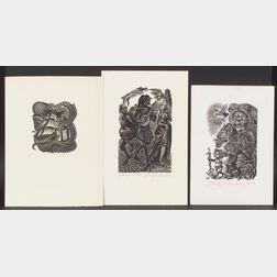 Fritz Eichenberg (German/American, 1901-1990)      Lot of Nine Prints:  Francois Villon