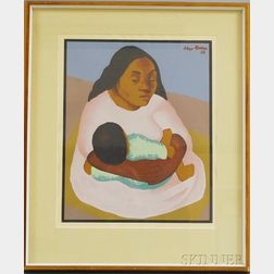 After Diego Rivera (Mexican, 1886-1957)      Mother and Child