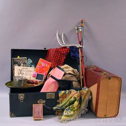 Two Suitcases Containing a Magician's Accoutrements