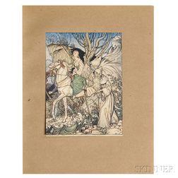 Fouque, Friedrich de la Motte (1777-1843) Undine  , Illustrated and Signed by Arthur Rackham (1867-1939)