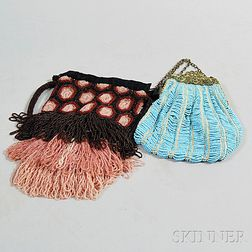 Two Vintage Beaded Purses