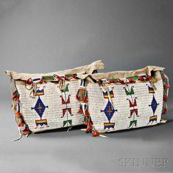 Pair of Lakota Beaded Hide Possible Bags