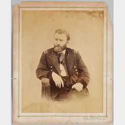 Alexander Gardner Albumen Print Portrait of General Ulysses S. Grant