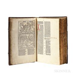 Augustine of Hippo, Saint (354-430 AD) De Civitate Dei  , [bound with] De Trinitate.