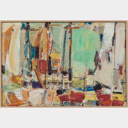 Vaclav Vytlacil (American, 1892-1984)      Harbor Scene, Martha's Vineyard