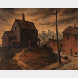 Henry Martin Gasser (American, 1909-1981)    Ancient Suburbia
