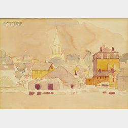 Stuart Davis  (American, 1892-1964)      Gloucester Harbor, 1917