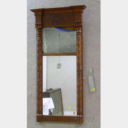 Classical Carved Mahogany Tabernacle Mirror