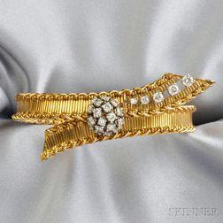 18kt Gold and Diamond Bracelet, Cartier, Inc.