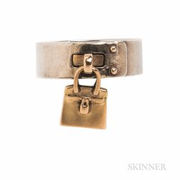 "Sterling Silver and 18kt Gold ""Kelly"" Ring, Hermes"