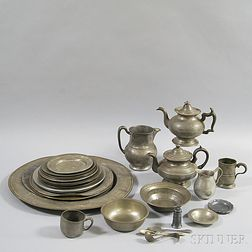 Approximately Thirty-two Pieces of Pewter