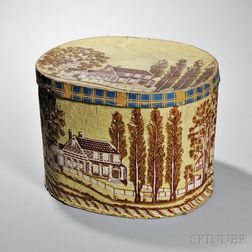 House-decorated Wallpaper Hat Box