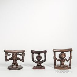 Three Luba-style Figural Neck Rests