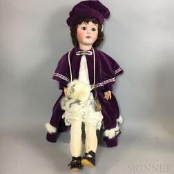 Lanternier Bisque Head Girl Doll