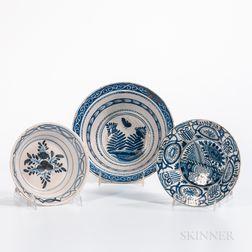 Three Early English Delft Bowls