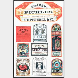 Shaker Pickles and Ketchup Labels
